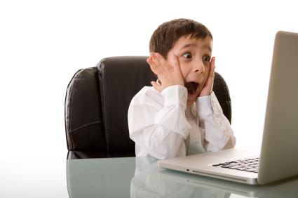 Kid at Computer