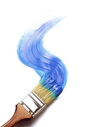 Blue Paint Brush